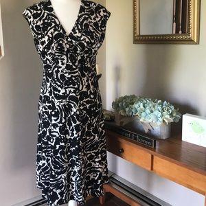 JONES NEW YORK DRESS SIZE 6 BLACK & WHITE